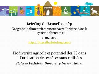 Briefing de Bruxelles n°31