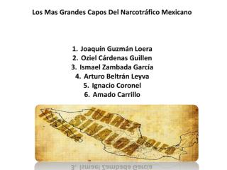 Los Mas Grandes Capos Del Narcotráfico Mexicano Joaquín Guzmán Loera Oziel  Cárdenas Guillen