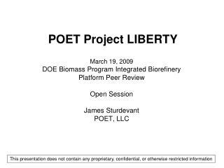 POET Project LIBERTY
