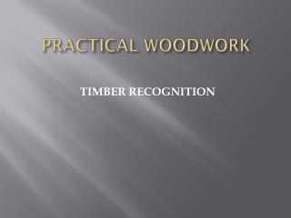 PRACTICAL WOODWORK