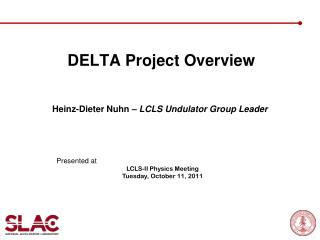 DELTA Project Overview