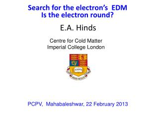 Search for the electron's  EDM