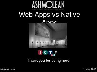 Web Apps vs Native Apps