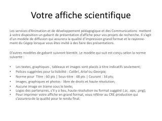 Votre affiche scientifique