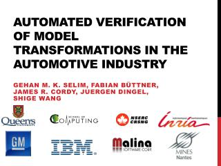 Automated Verification of Model Transformations in the Automotive Industry
