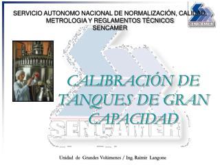 SERVICIO AUTONOMO NACIONAL DE NORMALIZACI N, CALIDAD, METROLOGIA Y REGLAMENTOS T CNICOS SENCAMER