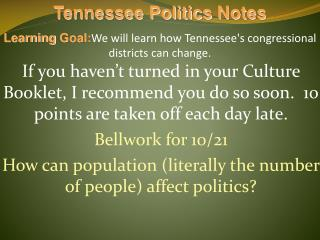 Tennessee Politics  Notes