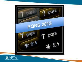 PQRS 2013