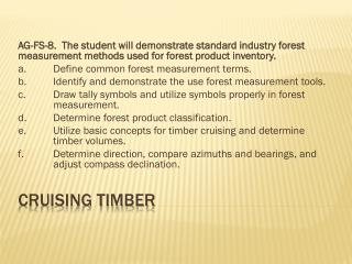 Cruising Timber