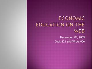Economic Education on the web