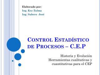 Control Estad stico de Procesos   C.E.P