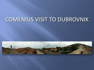 COMENIUS VISIT TO DUBROVNIK