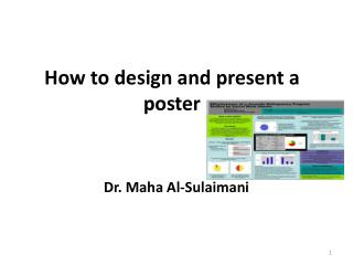 How to design and present a poster