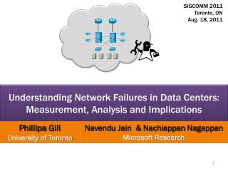 Understanding Network Failures in Data Centers:  Measurement, Analysis and Implications