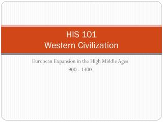 HIS 101 Western Civilization