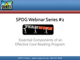 SPDG Webinar Series #2