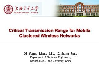 Critical  Transmission Range for Mobile Clustered Wireless Networks