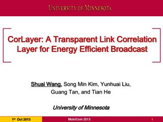 CorLayer: A Transparent Link Correlation Layer for Energy Efficient Broadcast