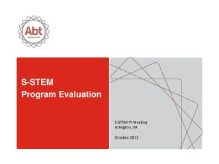 S-STEM  Program  Evaluation