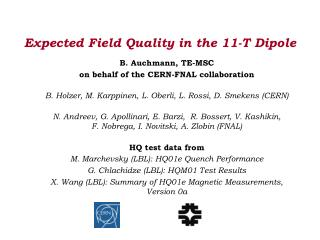 Expected Field Quality in the 11-T Dipole