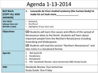 Agenda  1-13-2014