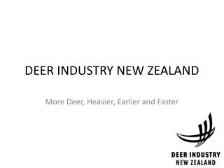 DEER INDUSTRY NEW ZEALAND