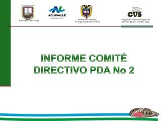 INFORME COMITÉ DIRECTIVO PDA No 2