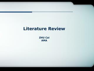 Literature Review ZHU  Cai AMA