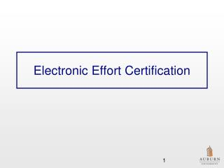 Electronic Effort Certification