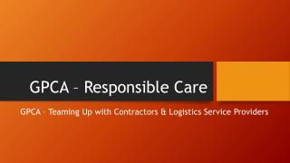 GPCA – Responsible Care