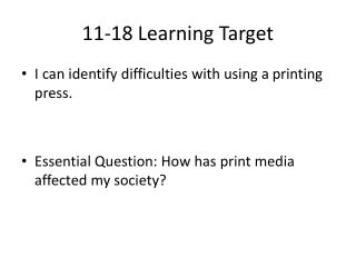 11-18 Learning Target