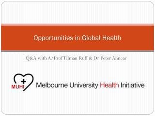 Opportunities in Global Health