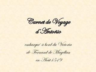 Carnet de Voyage  d' Antoñio