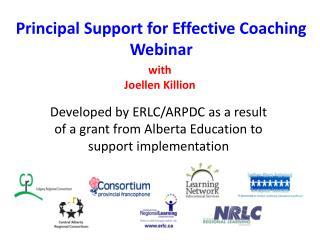 Principal Support for Effective Coaching Webinar