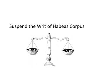 Suspend the Writ of Habeas Corpus