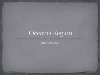 Oceania Region