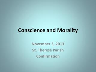 Conscience and Morality