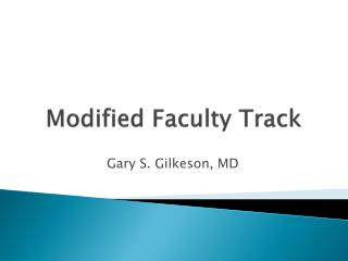 Modified Faculty Track