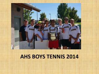 AHS BOYS TENNIS 2014