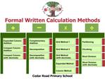 Formal Written Calculation Methods