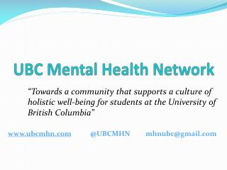 UBC Mental Health Network