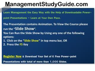 ManagementStudyGuide.com
