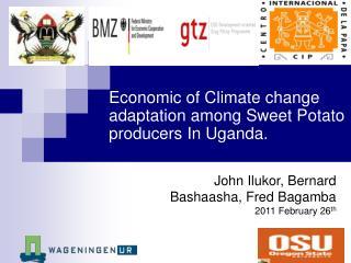 Economic of Climate change adaptation among Sweet Potato producers In Uganda.