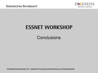 ESSnet  Workshop