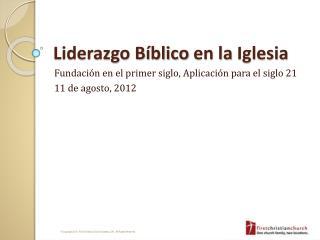 Liderazgo B�blico  en la  Iglesia