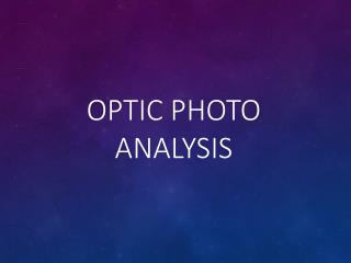 OPTIC Photo Analysis