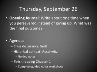 Thursday, September 26