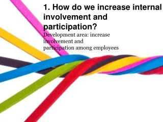 1.  How  do  we increase  internal  involvement  and participation?