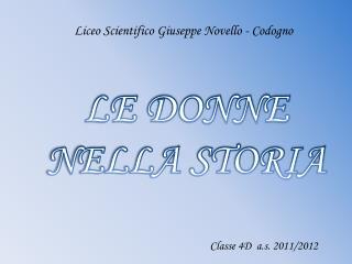 LE DONNE NELLA STORIA