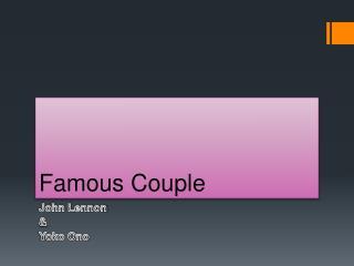 Famous Couple